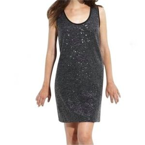 Kenneth Cole Charcoal Grey Sequin Dress, s
